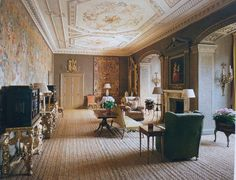 The Tapestry Drawing Room. Grimsthorpe Castle, 18th century, LINCOLNSHIRE