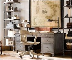 Industrial Decor Industrial Style Decorating Industrial Style 2. Office  RestorationRestoration HardwareInterior ...