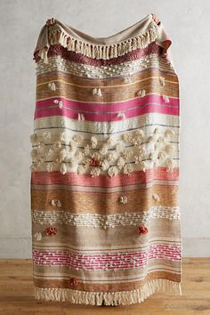A spring refresh (and a wish come true ) for my boho bedroom - Anthropologie Open Market Throw in pink