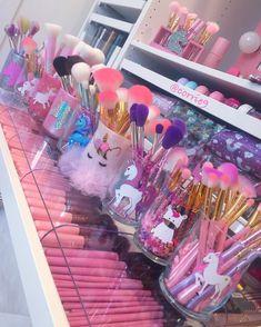 Unicorn Makeup Brush Holders & Makeup Brushes  #Unicorns #Unicorn #Love #Makeup #UnicornMakeupBrushes #BeautyRoom #MakeupBrushes #UnicornMakeupBrusheHolders #Pink #Vanity #GlamRoom #BeautySpace #GirlyStuff #GirlyThings #GirlyAccount