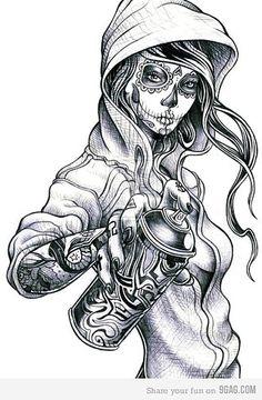 Sugar skull chick.