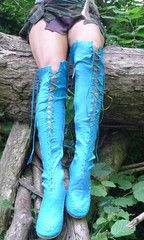 Gypsy Dharma are an online women's fashion brand which produces irresistible hand made boots for women, with a massive choice of high quality knee length boots and leather skirts and attractive ankle boots for women. Turquoise Boots, Perfect Body Shape, Blue Boots, Leather Boots, Leather Skirts, Real Leather, Handmade Clothes, Knee High Boots, Ankle Boots