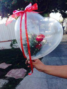 40 Valentines Day Decor Idea with Balloon for Ornament - Balloon Decorations 🎈 Valentines Balloons, Valentines Diy, Valentine Day Gifts, Ballon Arrangement, Flower Arrangements, Balloon Flowers, Balloon Bouquet, Balloon Gift, Balloon Ideas