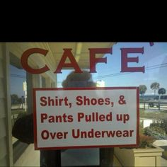 thank u ... or at least shirt long enough to cover your boxers weirdo the rest of us dont care about your underwear haha