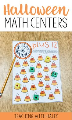 Halloween Math Centers for Kindergarteners and First Graders | halloween math games, halloween math activities, halloween math worksheets, halloween math craftivity, halloween activities 1st grade, halloween activities kindergarten