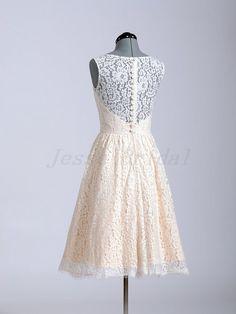 KnieLänge Hochzeitskleid Lace Hochzeitskleid kurze von JesseBridal, $179.99