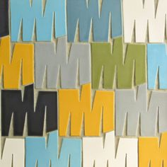 New Rex Ray Studio for modwalls matte ceramic tile: MMM. Made to order in USA. www.modwalls.com