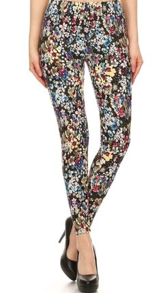 In Full Bloom Yummy Brushed Leggings One Size & Plus Size www.shopluxleggings.com comfy, classy & just a little bit sassy!