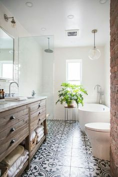 Bathroom decor for the bathroom renovation. Learn bathroom organization, master bathroom decor tips, master bathroom tile suggestions, bathroom paint colors, and much more. Bathroom Renos, Bathroom Interior, Remodel Bathroom, Bathroom Remodeling, White Bathroom, Budget Bathroom, Bathroom Mirrors, Bathroom Cabinets, Remodeling Ideas