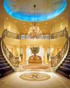 escadaria e sala maravilhosas