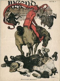 Jugend magazine cover 1900.