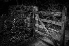 Gnarled Gate Peak District, Bokeh, Wander, Fence, Gate, Black And White, Cool Stuff, Photography, Photograph
