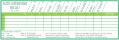 Pub Golf / Bar Golf Scorecard Printable (Fully Customisable) #PubGolf #BarGolf