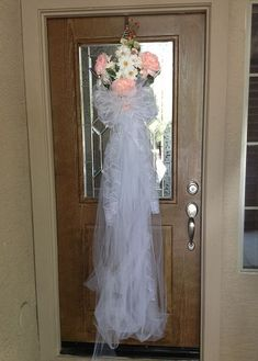 wedding door decorations site:pinterest.com | Bridal Shower Front Door Decoration | Wedding