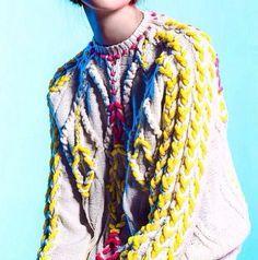 Coloured detailing. For similar beautiful knits visit http://mandysheaven.co.uk…