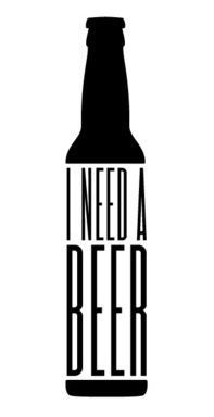 """I Need A Beer"". Brilliant ideas make great designs. For details on how to order products with your logo branded on them contact ww.fivetwentyfour.ca"