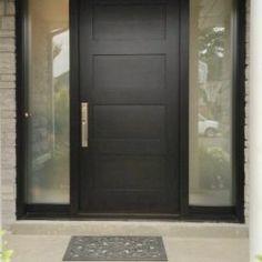 Side Light Entry Doors | Amberwood Doors Inc. Double Front Entry Doors, Modern Entrance Door, Main Entrance Door Design, Double Doors Exterior, Wooden Main Door Design, Modern Front Door, Front Door Design, Entry Doors With Glass, Home Door Design