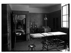 St. Vincent's Hospital Dispensary. Operating room. Date: February 9, 1932  Seventh Avenue and 11th Street.
