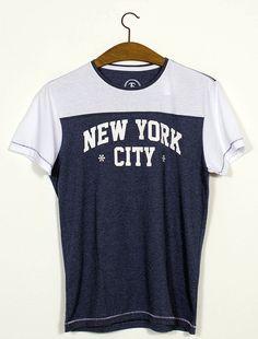 Tee baseball new york / Camiseta com recorte NYC