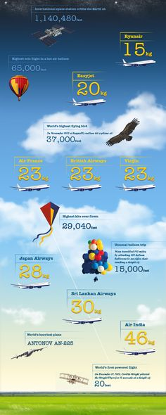 Air Travel Facts You Never Thought About Infographic