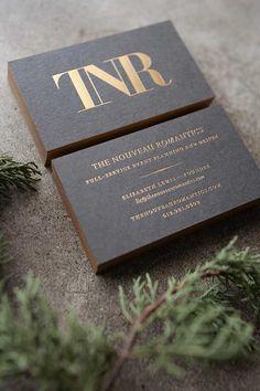 The nouveau romantics - copper foil   30 Biglietti da visita creativi