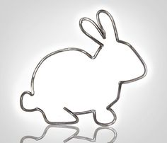 Metal Bunny Outline by JianGiglia on Etsy Wedding Anniversary Gifts, Wedding Gifts, Metal Animal, Pocket Pal, Wire Art, Cute Bunny, Hostess Gifts, Metal Wall Art, Outline