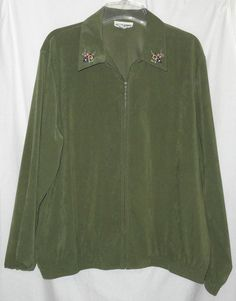 Alfred Dunner Polyester Regular 14 Coats & Jackets for Women Alfred Dunner, Olive Green, Size 14, Jackets For Women, Best Deals, Coats, Sweaters, Mens Tops, Green Jacket