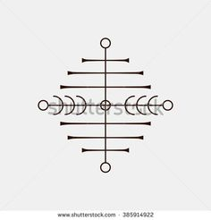 Galdrastafir. Magic runic symbols that appeared in the early Middle Ages in Iceland. Is a few, or multiple, intertwined runes. Stock vector.