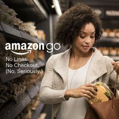 Amazon Go is a new kind of store featuring the world's most advanced shopping technology. No lines, no checkout – just grab and go! Watch the video: http://amazon.com/go, http://www.amazon.com/go/ref=cm_sw_r_pi_ago_lp_socwid