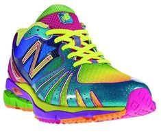 New Balance multi-colored running shoes. Wish these came in cross trainers. Meagan wants these shoes New Balance Womens Shoes, New Balance Sneakers, Buy Shoes, Me Too Shoes, Women's Shoes, Colorful Sneakers, Colorful Shoes, Rainbow Shoes, Rainbow Sneakers