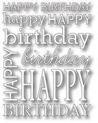 [990] DIES- Happy Birthday Background, #poppystamps, #die, #papercraft, #coverplate, #background, #birthday