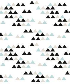 Papier peint géométrique noir et turquoise