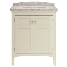 Picture Collection Website allen roth Brisette Cream Undermount Single Sink Poplar Bathroom Vanity with Cultured Marble Top Common x Actual x