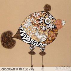 Chocolate Bird 6 (30x30)
