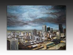 City storm Painting