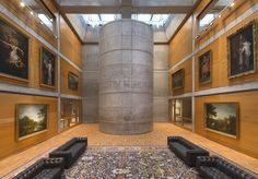 Image 1 of 20 from gallery of Louis Kahn's Yale Center for British Art Reopens After Restoration. Yale Center for British Art, Library Court following reinstallation. Image © Richard Caspole