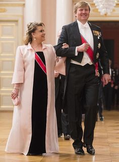 King Harald and Queen Sonja celebrate their 80th Birthday. Grand Duchess Maria Teresa of Luxembourg and King Willem-Alexander of the Netherlands