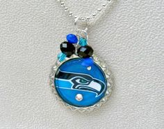 Seattle Seahawks Necklace Seattle Seahawks by KathrynsCollection