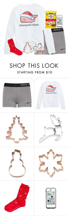 """""""day 2: baking Christmas cookies"""" by julesnewkirk ❤ liked on Polyvore featuring NIKE, Williams-Sonoma, Vineyard Vines, LifeProof and Christmascontest"""