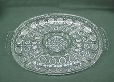 American Brilliant Period Cut Glass 5 Part Dish With Detailed Deep Cut Design #unknown