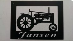 Powder Coated Custom Metal Tractor Sign in Frame Metallic Colors, Silver Color, Tractor Silhouette, Liquid Paint, Anniversary Present, Color Powder, Custom Metal, Extreme Weather, Powder Coating