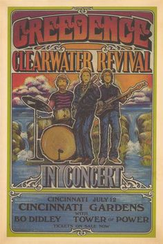 Reproduction Vintage Concert Posters | ... - Bo Didley - Tower of Power - Cincinnati Gardens - Concert Poster