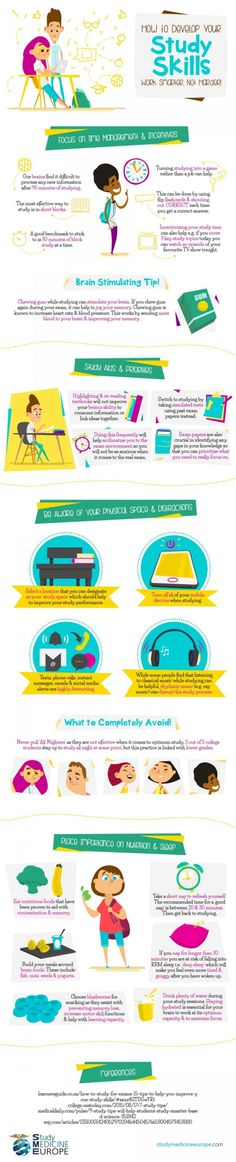 How To Develop Your Study Skills #Infographic #HowTo #Study