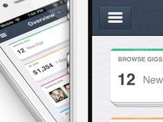 Dribbble - IOS, New iPhone app design   Dashboard UI,UX interface by Julien Renvoye