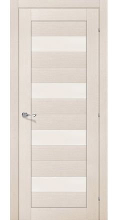"""""""Milano"""" Interior Door Bleached Oak Finish w/Frosted Glass"""