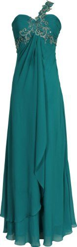 Beaded One-Shoulder Chiffon Long Goddess Gown Prom Dress, Size: Large, Color: Teal PacificPlex,http://www.amazon.com/dp/B006KXN3V4/ref=cm_sw_r_pi_dp_LtV1rb1TG61Y66JE