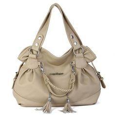 Elegant Women Tassel Pendant Handbag Ladies Casual Shopping Shoulder Bag