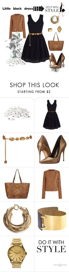 """""""Little black dress daily variant"""" by makeup-queen-anna ❤ liked on Polyvore featuring Yumi, Chanel, Schutz, Rosantica and Nixon"""