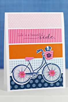 Life Is A Beautiful Ride Card by Erin Lincoln for Papertrey Ink (May 2013)