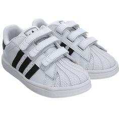 ADIDAS Superstar Kinder Klettverschluß Ftwr White / Core Black (B26070)